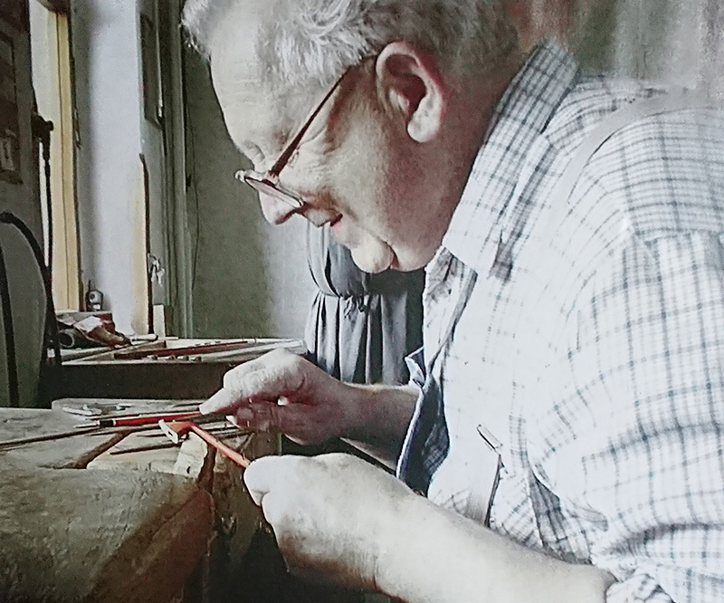 Master craftsman Werner Uebel in his workshop